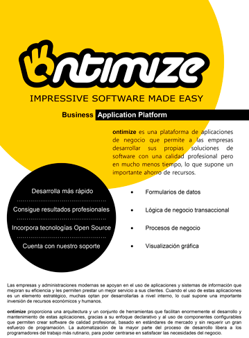 ontimize rapid software development